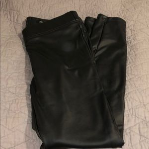 Vegan leather leggings